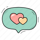 heart, like, love, message icon