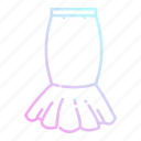 clothes, clothing, doodle, fashion, shopping, skirt icon