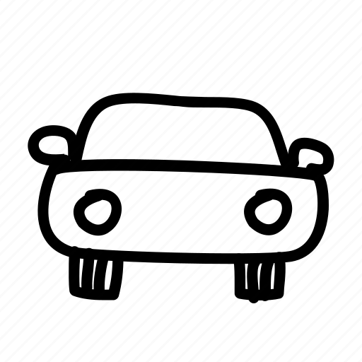car, front, handdrawn icon