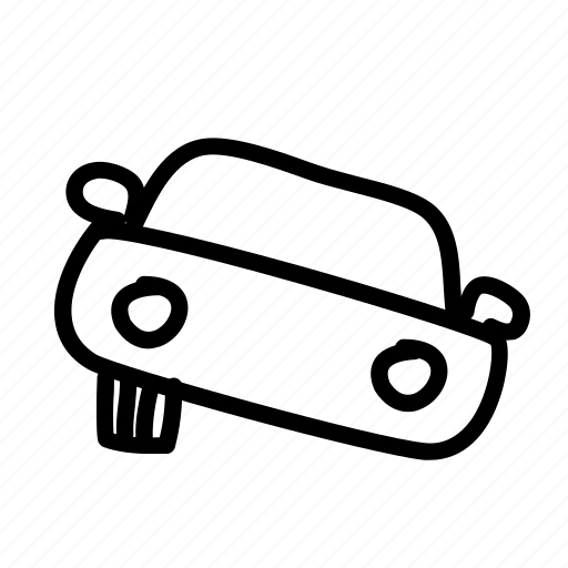 accident, broken, busted, car, front, handdrawn, wrong icon