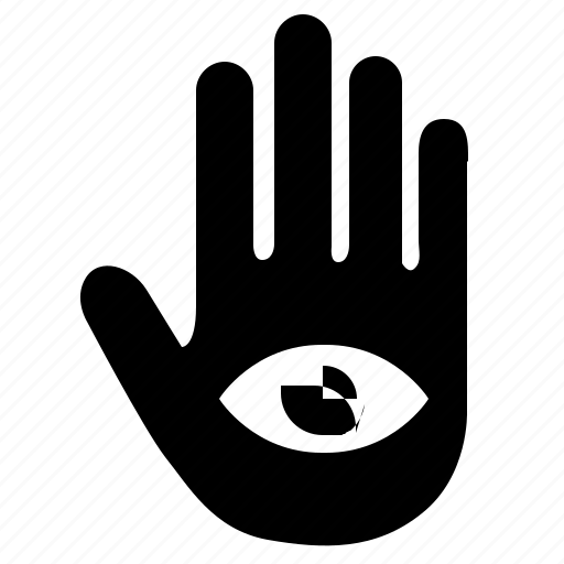 biometry, eye, gesture, hand, religion, scan, view icon