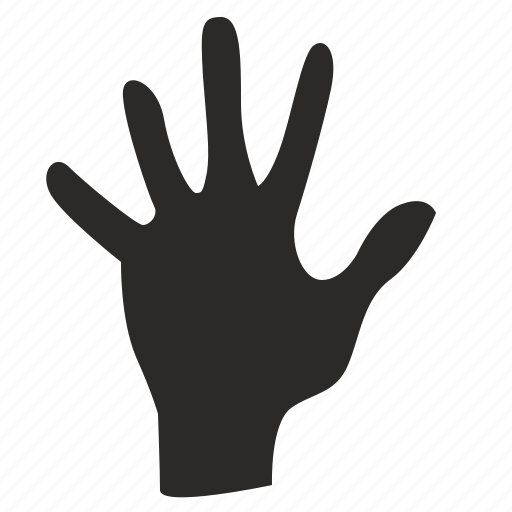 Fingers, five, gesture, hand, dactylogram icon - Download on Iconfinder