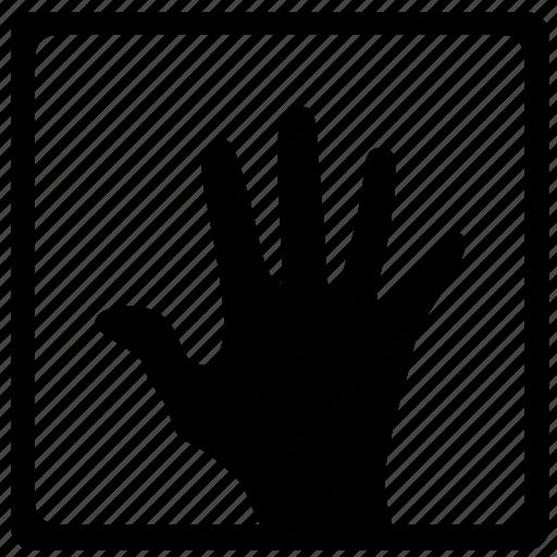 biometry, dactylogram, gesture, hand, handprint, imprint, scan icon