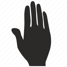 dactylogram, gesture, hand, message, stop icon