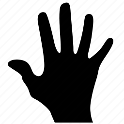 gesture, hand, man, open, scan icon