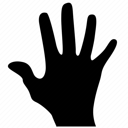 gesture, hand, man, open, scan icon
