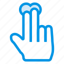 click, fingers, hand, tap, touch icon