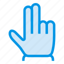 arrow, clcik, double, finger, gesture, pointer, tap icon