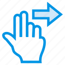 direction, forward, gesture, next, nextslide, swipe, touch icon