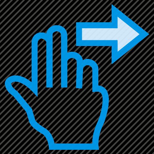 direction, forward, gesture, next, nextslide, swipe, touch icon