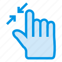 click, magnify, pointer, reduce, resize, view, zoomout icon