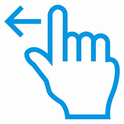 gesture, hand, left, slide, swipe, tap, touch icon