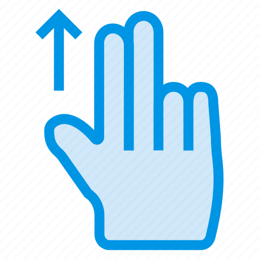 finger, gesture, slide, swipe, tap, touch, up icon