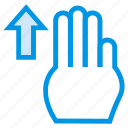 arrow, pointer, slide, swipe, swipeup, touch, vertical icon