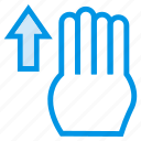 arrow, finger, gesture, swipe, swipeup, touch, vertical icon
