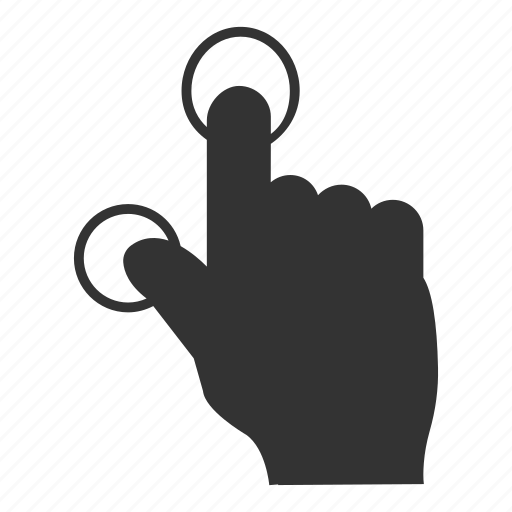 click, double, doubletab, finger, press, tap, touch icon