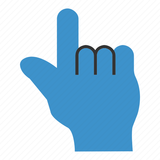 click, finger, mouse, single, tap, tool, touch icon
