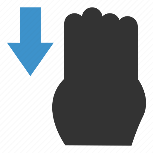click, down, finger, gesture, hand, swipe, touch icon