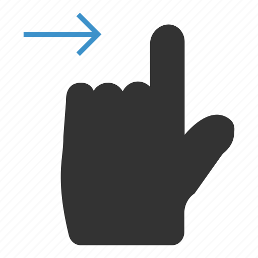 finger, gesture, mobile, next, slide, swipe, touch icon