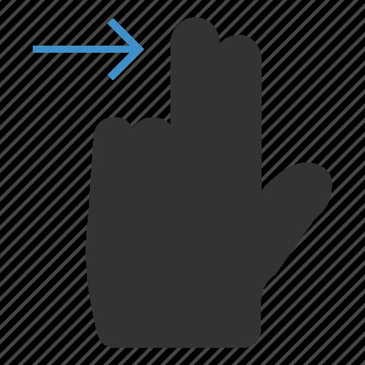 gesture, horizontal, nextscreen, right, slide, swipe, touch icon