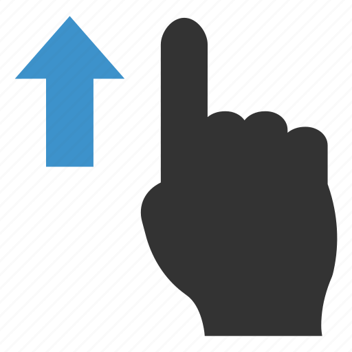 finger, gesture, slide, swipe, touch, up, vertical icon