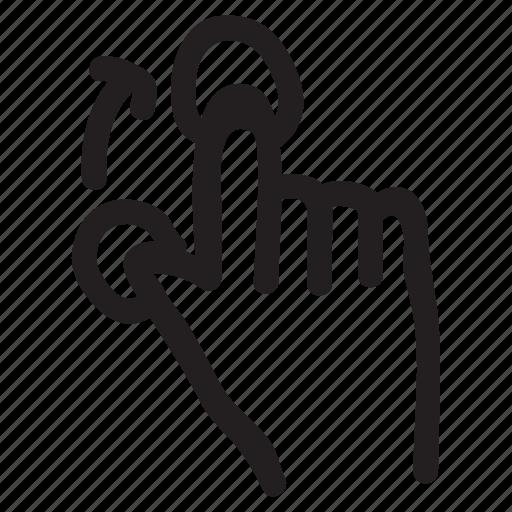 arrow, double, doubletab, finger, fingers, gesture, tool icon