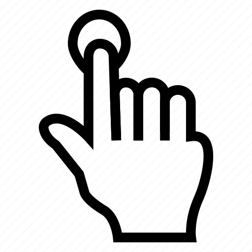 click, finger, hand, mouse, pointer, screen, touch icon