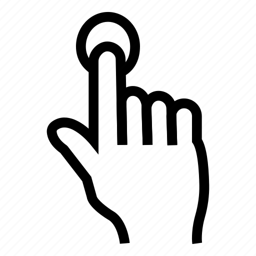 click, finger, point, press, single, tap, tool icon