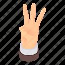 cartoon, finger, fingers, gesture, hand, isometric, three