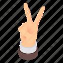 cartoon, finger, fingers, gesture, hand, isometric, two