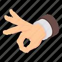 cartoon, gesture, hand, isometric, ok, okay, quality