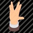 cartoon, element, finger, gesture, hand, isometric, silhouette