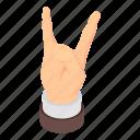 cartoon, finger, hand, isometric, music, rock, roll