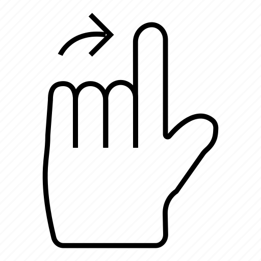 arrow, click, finger, mouse, next, tool, touch icon