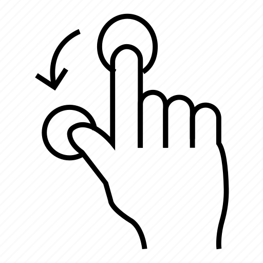 finger, gesture, hand, merge, pinch, touch, touchscreen icon
