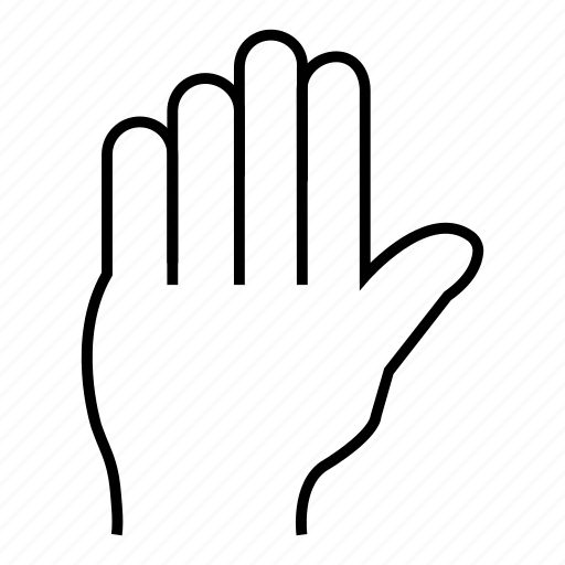 hand, help, pointer, select, stop, tap, tool icon