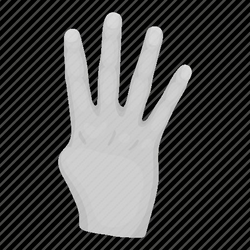 alphabet, communication, finger, gesture, hand, palm, sign icon