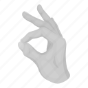 alphabet, communication, finger, gesture, hand, palm, sign icon