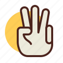 cool, gesture, hand, interaction, sign icon
