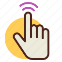 double, gesture, hand, interaction, tap icon
