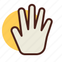 exterior, gesture, hand, interaction icon