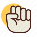 fist, gesture, hand, interaction icon