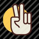 gesture, hand, hello, interaction icon