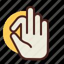 gesture, hand, interaction, ok icon