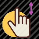 gesture, hand, interaction, onefinger, updown icon