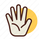 gesture, hand, interaction, palm icon