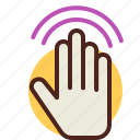 gesture, hand, interaction, touch icon
