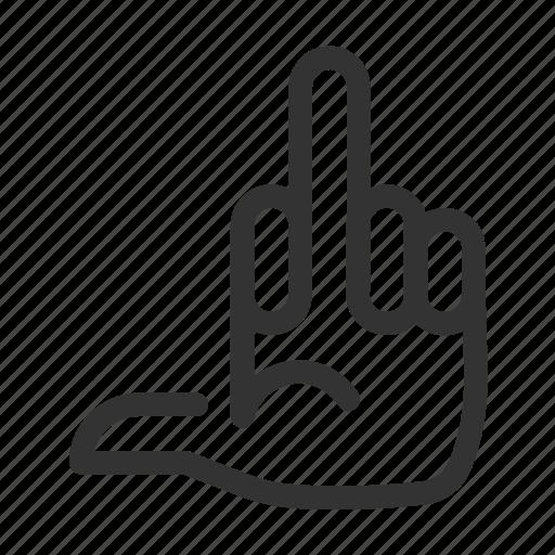 Bird, finger, gesture, hand, middle icon - Download on Iconfinder