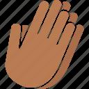 beg, hands, pray, prayer, praying, worship, black icon