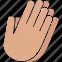 beg, hands, pray, prayer, praying, white, worship icon